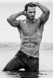 Hot guy in ocean-Hugh